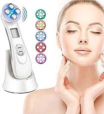 Radiofrecuencia Facial y corporal Aparato, Aparato Facial aparato Radiofrecuencia, 5 Modos de Terapia de luz LED,...