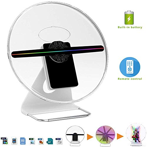 AAFLY 3D Holo Fan, Hologram Projector Digitalanzeige Photo / 512P HD Video zu Hause, Büro, Unterhaltung und Geschäften…