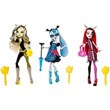 Monster High Freaky Fusion Frankie Stein, Ghoulia Yelps & Operetta Set of 3 Dolls