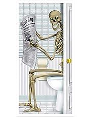 Beistle Skeleton Restroom Door Cover, 30-Inch by 5-Feet