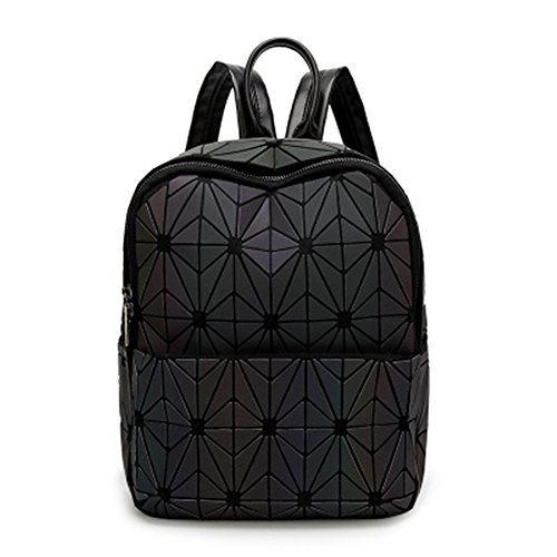 Drawstring Coloridos Scrub Cosido Otomoll Moda Geométricos Holográfica Bag Mochila Láser Bolso wq8qtfS
