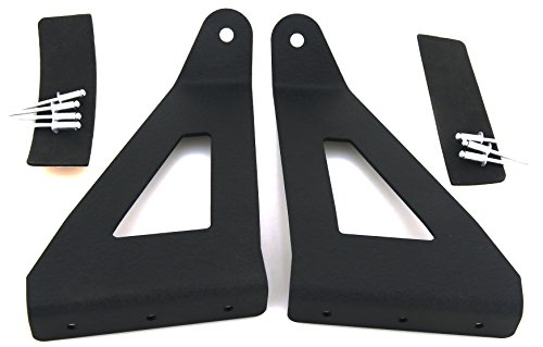 GS Power's Ford F150 52 in Curved LED Bar Light Mount Brackets for 2004 - 2017 F150 & SVT Raptor Pickup. Mounts Off Road Auxiliary Work Lights at Roof Cab / Upper Windshield of the Truck