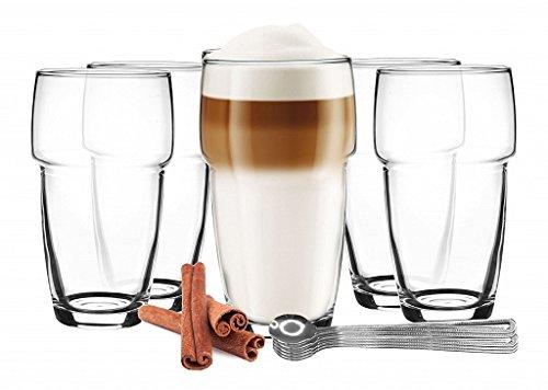 6 latte macchiato vasos apilables 300 ml Vasos de café + 6 ...