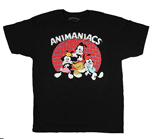 Bioworld Warner Bros. Animaniacs Wakko Yakko Dot in The Spotlight Men's T-Shirt,Black,Medium