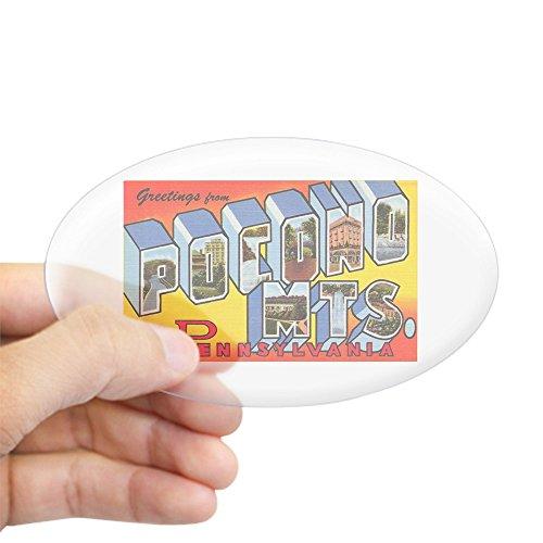 CafePress - Pocono Mts Pennsylvania Oval Sticker - Oval Bumper Sticker, Euro Oval Car Decal