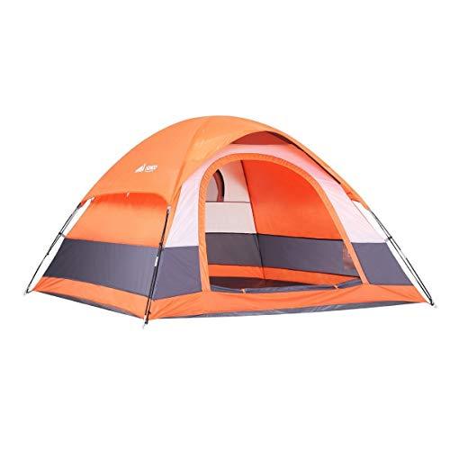 SEMOO Water Resistant, 2-3 Person, 1 Door, 3-Season Lightweight Dome Tent Camping Carry Bag
