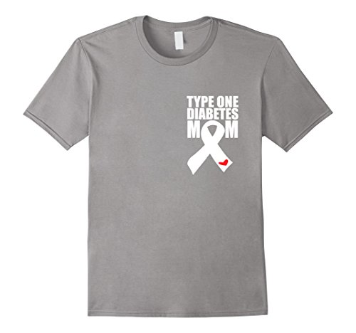 Men's Type 1 Diabetes Mom - Diabetes T-Shirt Medium Slate (Type One Diabetes Shirts compare prices)