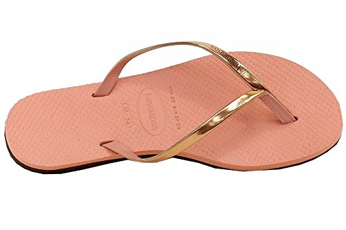 You Women's Havaianas Pink Metallic Flip Flops 7FxpPqw