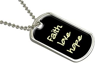 Graphics and More Faith Love Hope–Military Dog Tag Bagages Porte-clés