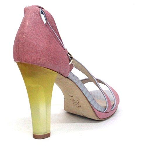 Juicy Couture para dedo del pie abierto en el talón, UK 4 tamaño de la funda de, de £121 rojo - rosa (b)