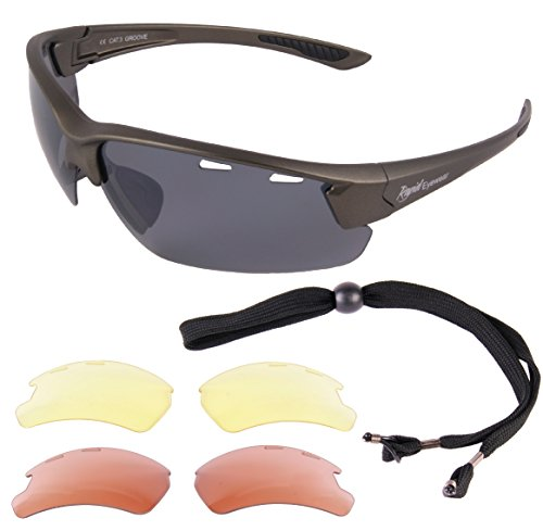 Rapid Eyewear Silver Grey Pilot & Sport Sunglasses for Glidi