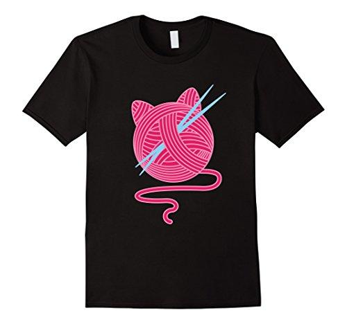 Knitting Kittens - Mens Knitting Kitten I Cat Lovers Knitting T-Shirt Medium Black