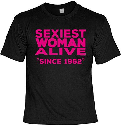 T-Shirt - Sexiest Woman Alive - Since 1962 - lustiges Sprüche Shirt als Geschenk zum 55. Geburtstag