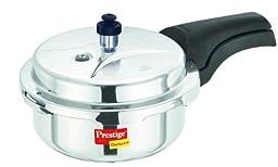 Prestige Deluxe Stainless Steel Pressure Cooker, 2 Liters