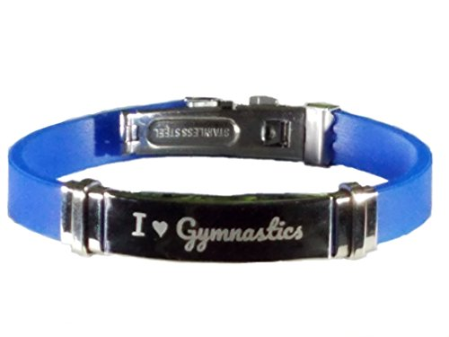 ics bracelet gifts jewelry accessories for girls boys gymnast collection(1 Bracelet + 1 Bag) (Blue) ()