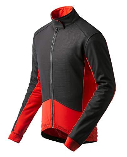 3830ddbde1f KORAMAN Men s Winter Windproof Cycling Jacket Thermal Warm Fleece  Breathable Bike Biking Jacket Jersey (Red