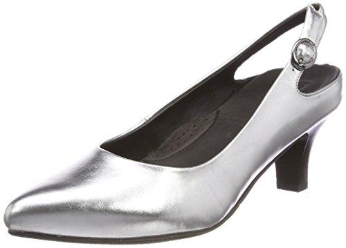 GERRY WEBER Damen Caravella 02 Slingback Pumps Silber (Silber)