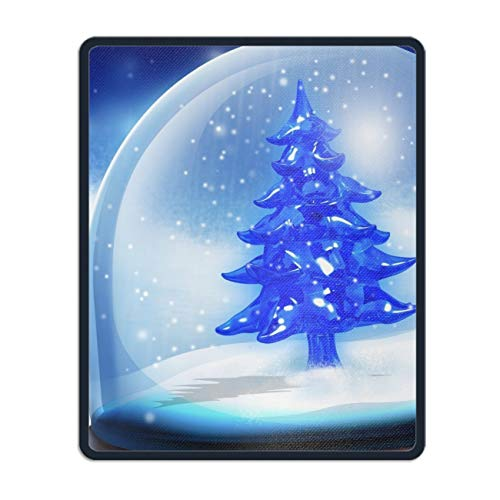 (Mouse Pad, Holiday Christmas 3D Tree Blue Snow Gaming Mouse Pads Mousepad - 11.8 x 9.8 inch)