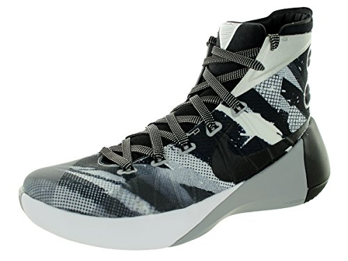 Nike Heren Hyperdunk 2015 Premium Basketbalschoen Wit / Wolf Grijs / Zwart Maat 12 M Ons