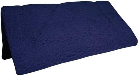 Intrepid International フリース製 極厚 ウェスタンサドルパッド ブルー