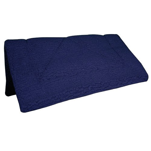 International Intrepid Fleece - Intrepid International Fleece Extra Thick Western Saddle Pad, Blue
