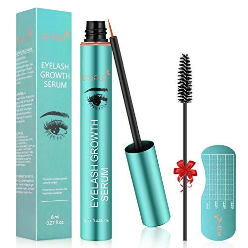 Eyelash Growth Serum, EKUPUZ 8ml Eyebrow Enhancer, Natural Ingredients Lash Boost Serum to Grow Longer Fuller Thicker…