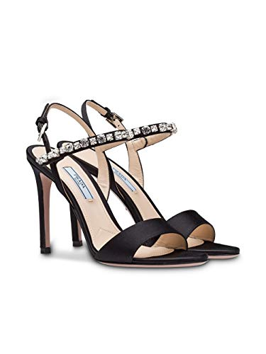 Mujer Sandalias Negro Cuero 1x822if100049f0002 Prada x17Oqpw4f1