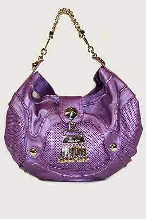 Versace Handbags Purple Leather DBFB748