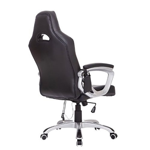 HomCom Race Car Style PU Leather Heated Massaging Office Chair - Blue by HOMCOM (Image #4)