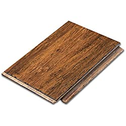 "Cali Bamboo - Solid Wide Click Bamboo Flooring, Medium Antique Java Brown, Aged - Sample Size 8"" L x 5 1/8"" W x 9/16"" H"