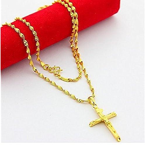 24k gold cross necklace amazon 24k gold cross necklace aloadofball Gallery