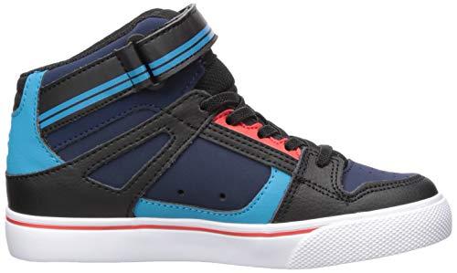 366f9fcfd5 DC Boys' Pure HIGH-TOP EV Skate Shoe Blue/Black/RED 4 M M US Big Kid