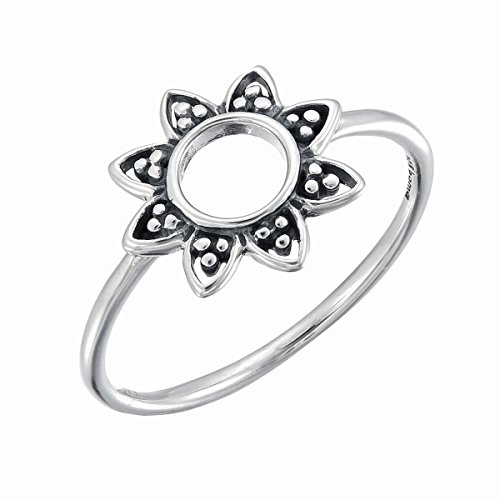Boma Jewelry Sterling Silver Balinese Style Sunflower Ring, Size 6