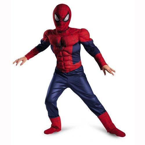 Disguise Boy's Marvel Ultimate Spider-Man Classic Muscle Costume, 10-12 ()