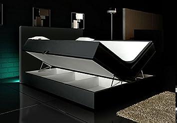 Wohnen Luxus Boxspringbett Schwarz 160x200 Inkl 2 Bettkasten