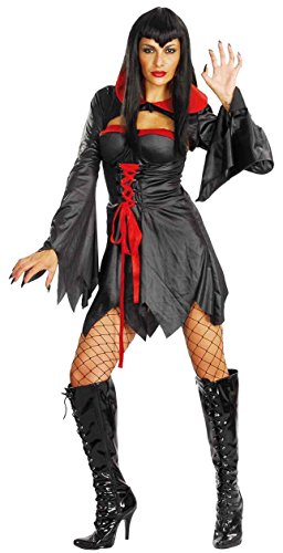 Ladies Halloween Coven Queen Costume Onesize US 4-10 (Onesize (US 4-10), Black)