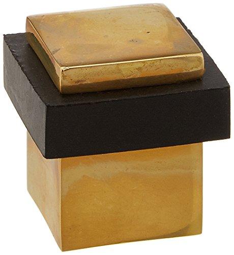 Deltana UFBS138U3-UNL Solid Brass 1 3/8-Inch Square Universal Floor Bumper