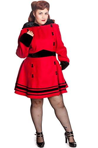 Hell-Bunny-Plus-Red-Faux-Fur-Trim-Hooded-A-line-Princess-Sofia-Coat