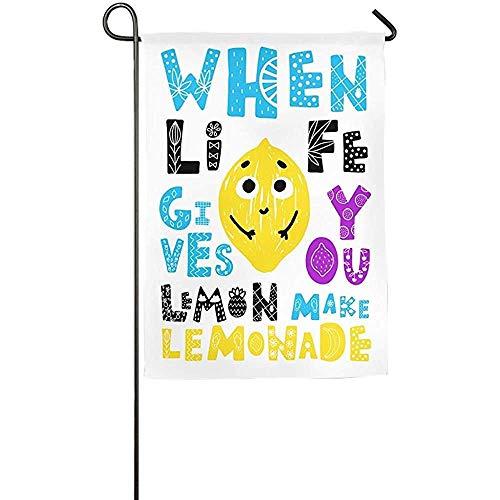 (Flag Personalized Garden Flag - Custom When Life Gives You Lemon Make Lemonade Yard Flag 12 X 18 Inches)