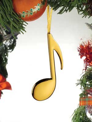 Note Gold Eighth (Music Treasures Co. Gold Eighth Note Christmas Ornament)