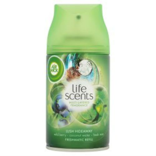Air Wick Life Scents Freshmatic Max Auto Spray Air Freshener Refill Lush Hideaway 250ml Case of 4
