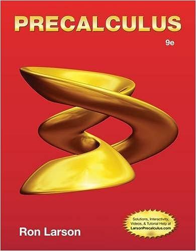 Precalculus, 9th Edition: Ron Larson: 9781133949015: Amazon.com: Books