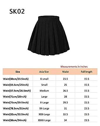Beautifulfashionlife Girl`s Japan School Versatile Performance Pleated Summer Skirt 2XL,Dark Grey