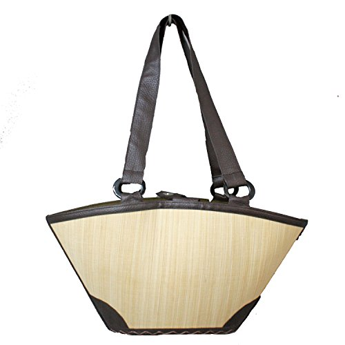 Bamboo Bag HANAM nature Shoulder bag made of bamboo Raffia Bag Straw Bag from Asia Auténtico n6hD2brSj1