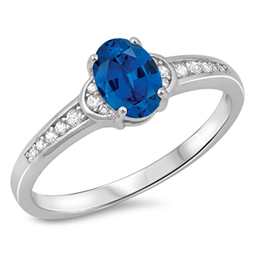 oval sapphire ring - 7