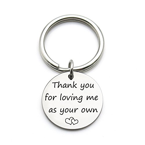 XGAKWD Step Mom Mother Gift, Thank You for Loving Me as Your Own, Mom in Law Gifts Idea for Mothers Day from Husband Daughter Son Kids (Gift Ideas Father)