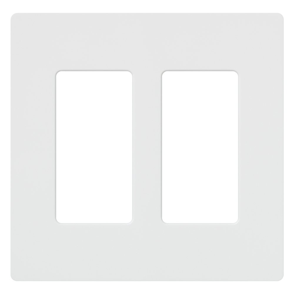 Lutron CW-2-WH-48 Claro 2-Gang Wall Plate, White, 48-Pack