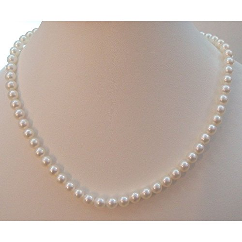 Nimei Nimei-Collier Ras du cou Perles d'eau douce 6 5-7 Or Jaune 18 Cts