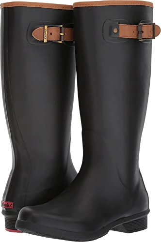 Chooka Boots Rain Boots - Chooka Women's Tall Memory Foam Rain Boot, Black, 8 M US