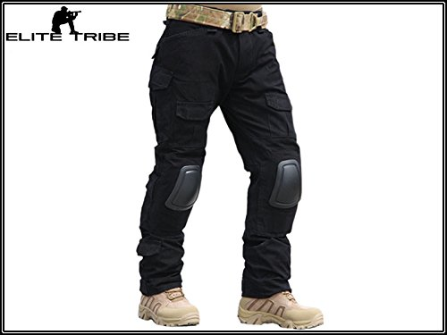 Men-Military-Airsoft-Hunting-BDU-Pants-Combat-Gen2-Tactical-Pants-with-Knee-Pads-Black